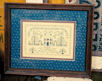 Vintage Alphabet House Picture
