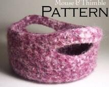 Felted Wool Handle Baskets Easy Crochet PATTERN & Felting Instructions - PDF 6374
