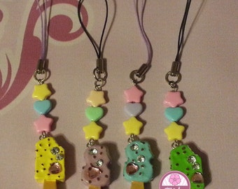 "On Sale!! Cell Phone Strap ""Icecream-Gyaru"" (different colors)"
