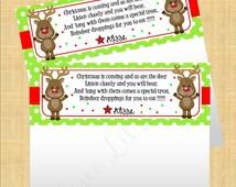 SALE- Reindeer Poop DIY Printable