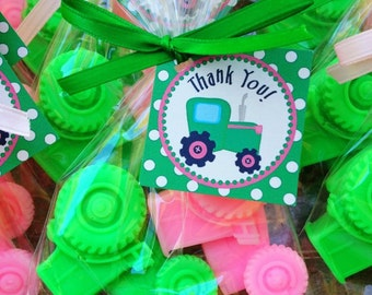 20 TRACTOR SOAPS {10 Favors} -  Transportation Inspired Birthday, Tractor Baby Shower, Construction Birthday, Farm