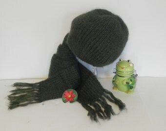 HAT AND SCARF Mohair set Christmas gift