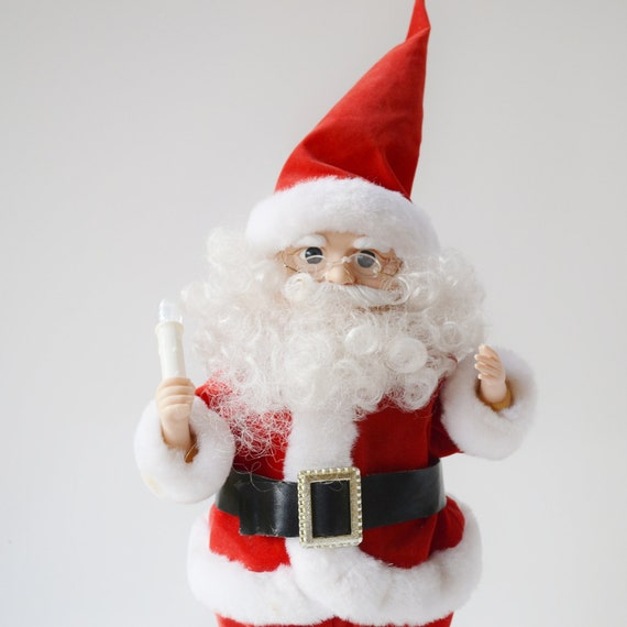 Vintage animated santa santa claus christmas decoration for Animation decoration noel