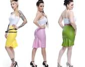 Latex Kickpleat Skirt