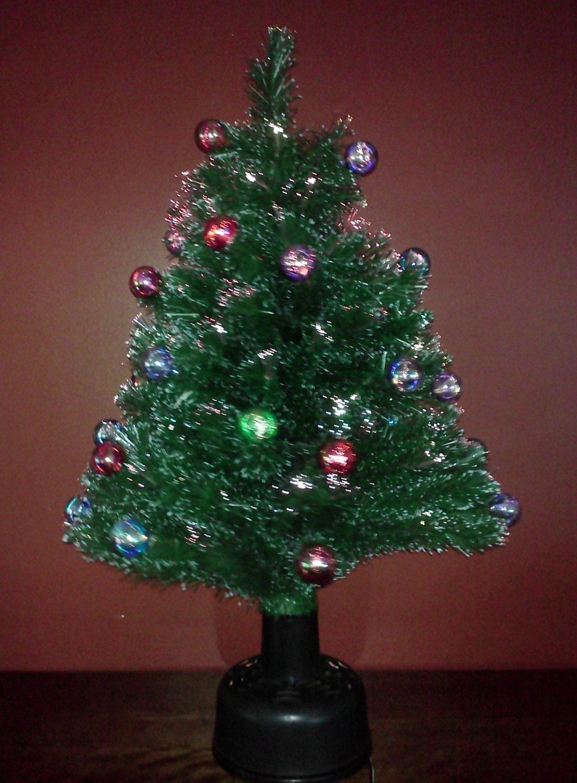 Tabletop Fiber Optic Christmas Tree