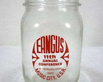 Vintage 1980's Eangus National Guard Conference Golden Harvest Mason Jar