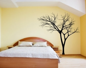 Tree Wall Decal | Winter Tree Decal | Bare Tree Style 3 Large Mural Vinyl Wall Decal 22222