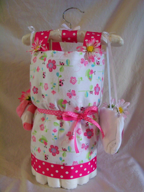 Baby Girl Diaper Dress - an adorable baby shower gift, made to order
