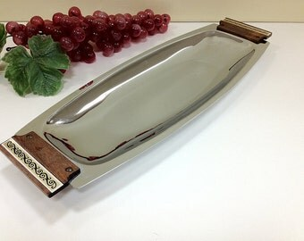 Retro Kromex Tray Modern Chrome Housewares