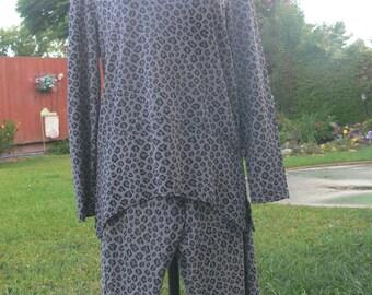 nina piccalino gray pant suit plus size large