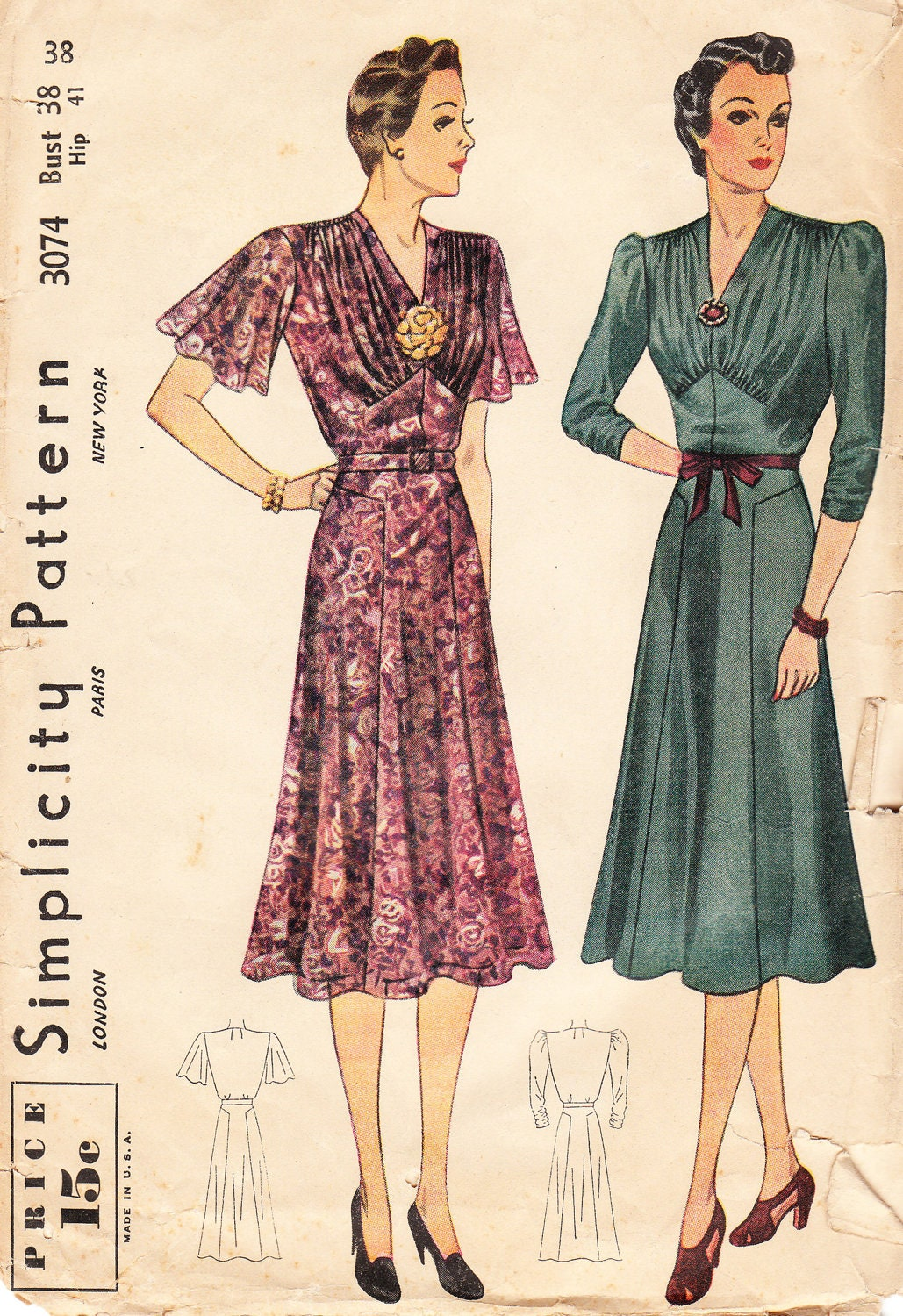 Vintage 1930s Simplicity Sewing Pattern No. by BettieJoVintage