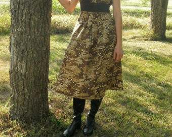 Modest Charming Camouflage Dress---Made to Order---Army Camo, Forest Camo