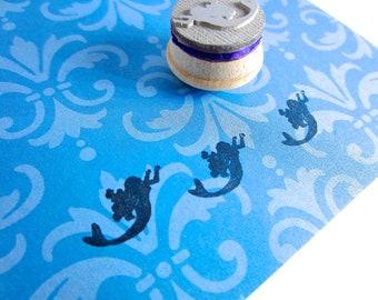 Mermaid Silhouette Stamp