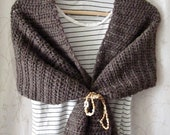 Warm Coffee Brown Shawl Wrap