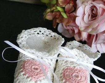 crochet baby booties girl