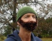 Bearded Crochet Hat
