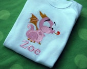 PERSONALIZED Little Dragon bodysuit embroidered Year of the Dragon