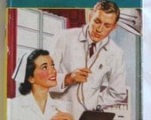 CHERRY AMES, Clinic Nurse, Vintage Hardcover with Dust Jacket, by Julie Tatham