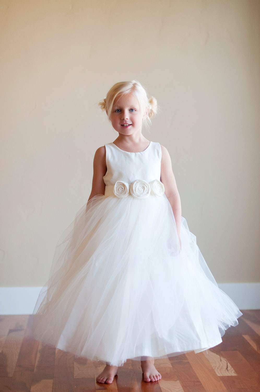 Flower girl dress ivory flower girl dress white flower girl