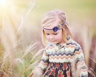 Mae- Fall Fabric Flowers Headband