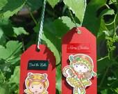 Handmade Christmas Gift Tags Sunny Christmas Marci Christmas Elf Marci