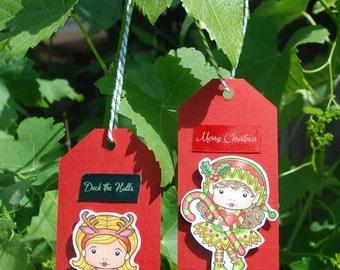 Handmade Christmas Gift Tags Sunny Christmas Marci Christmas Elf Marci La-La Land   perfect to label your Christmas gifts   On sale 20% off