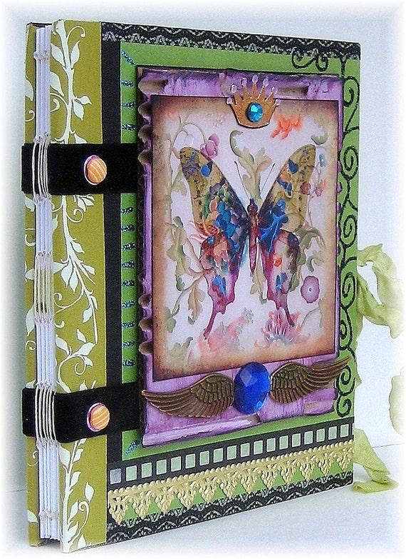 Sketchbook, Smashbook, Art Journal, Photo Album, Bejeweled Butterfly