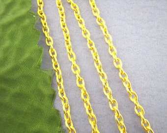 16 Feet Gold Chain Findings 3x4mm - 5M - Ships IMMEDIATELY  from California - CH51