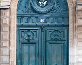 Paris Photograph - Number 10 Rue de Rivoli,  Architectural Fine Art Photo, Parisian Home Decor, Wall Art
