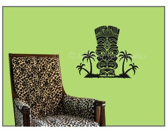 VINYL TIKI Wall Decal S-107