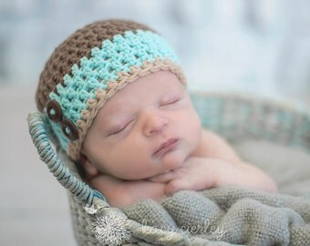 newborn hat, newborn baby hat, newborn boy hat, baby hat, baby boy hat, button hat