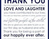 Custom Printable Wedding Thank You Card Digital File
