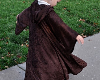 "Many Colors- Custom Travelers Cloak 27-35"" long Hood & sleeves Jedi Sith Star Wars Prince Charming Hobbit Magician Witch Harry Potter Wizard"