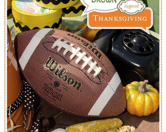Charlie Brown Thanksgiving Party Plan: A 60-Page eGuide to Hosting Your Party INSTANT DOWNLOAD  + 10% off Party Supplies Coupon