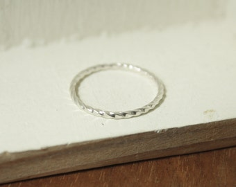 Posy Collection - Individual Skinny Sterling Twist Ring