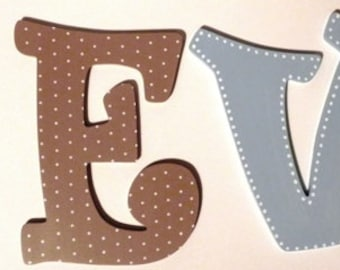 Animal Themed Hand Painted Wooden Letter Wall Hangings - Set of 4