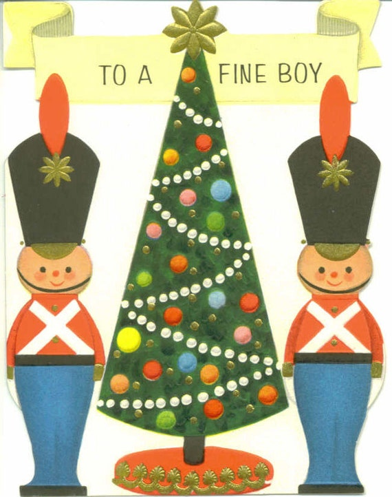 Retro Christmas Toy : Vintage hallmark christmas card toy soldiers by
