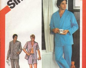 Mens Classic Pajama Pattern Simplicity 6381 Medium Uncut