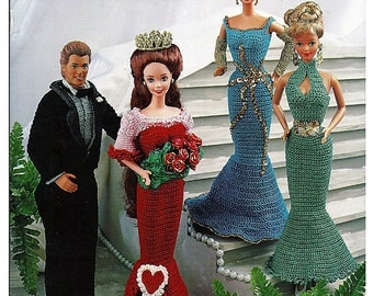 Prom Night for Barbie and Ken Thread Crochet pattern  Annies Attic 87D79
