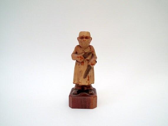 Vintage Figurine Doctor Halloween Macbre