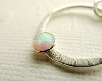Opal Sterling Silver Necklace - October Birthstone