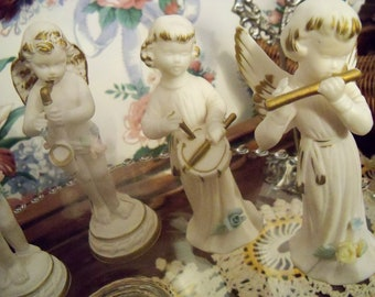 Napcoware White Angels Shabby Chic Set of Six