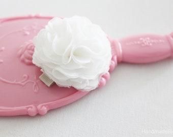 White, Ivory, Flower Girl, Hair Clip, Mini Flower, Small Flower, Bridal Hair Piece, Bridesmaid, Hair Flower