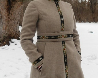 Russian Princess Coat - Joseph Stein Muriel Reade - Long Wool Coat - Jr 3 5 Steampunk