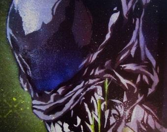 Alien Stencil Art Print