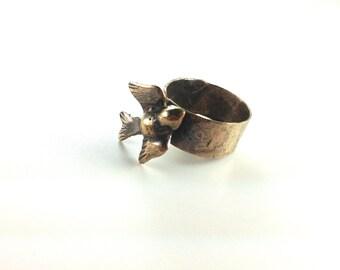 Salty Bird Ring, Brass