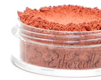 "Matte Red Coral Blush - ""Sorbet"" (warm toned blush 4.5g jar) - Vegan"