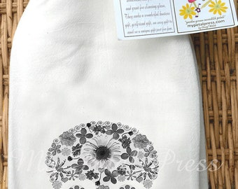 Skull Flour Sack Towel with several choices of skull art
