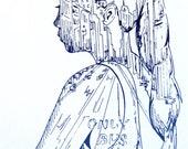 New York City Portrait Original Silkscreen Print