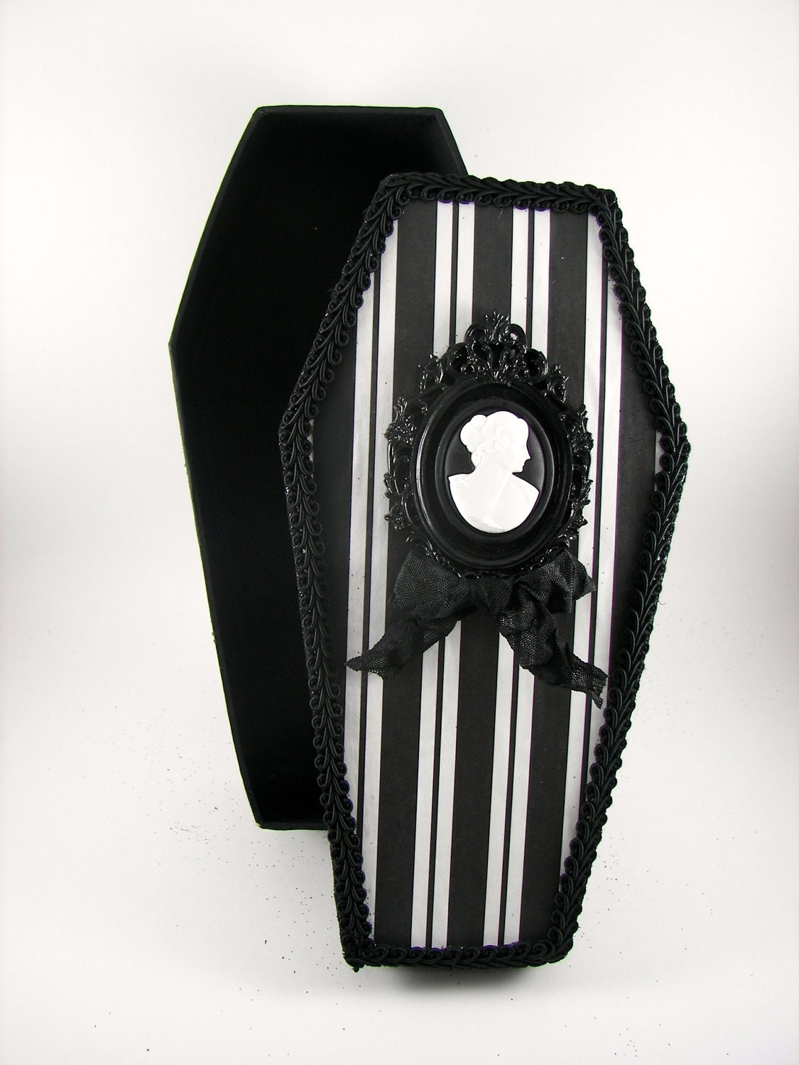 Spooky Halloween Coffin Decoration By SparkleLovesWhimsey